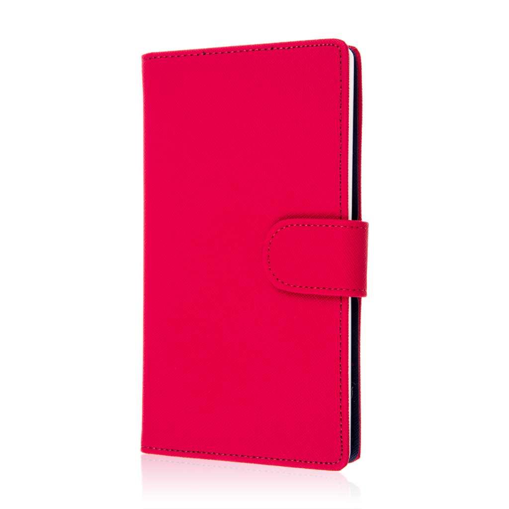 ZTE Grand X Max - Hot Pink MPERO FLEX FLIP Wallet Case Cover