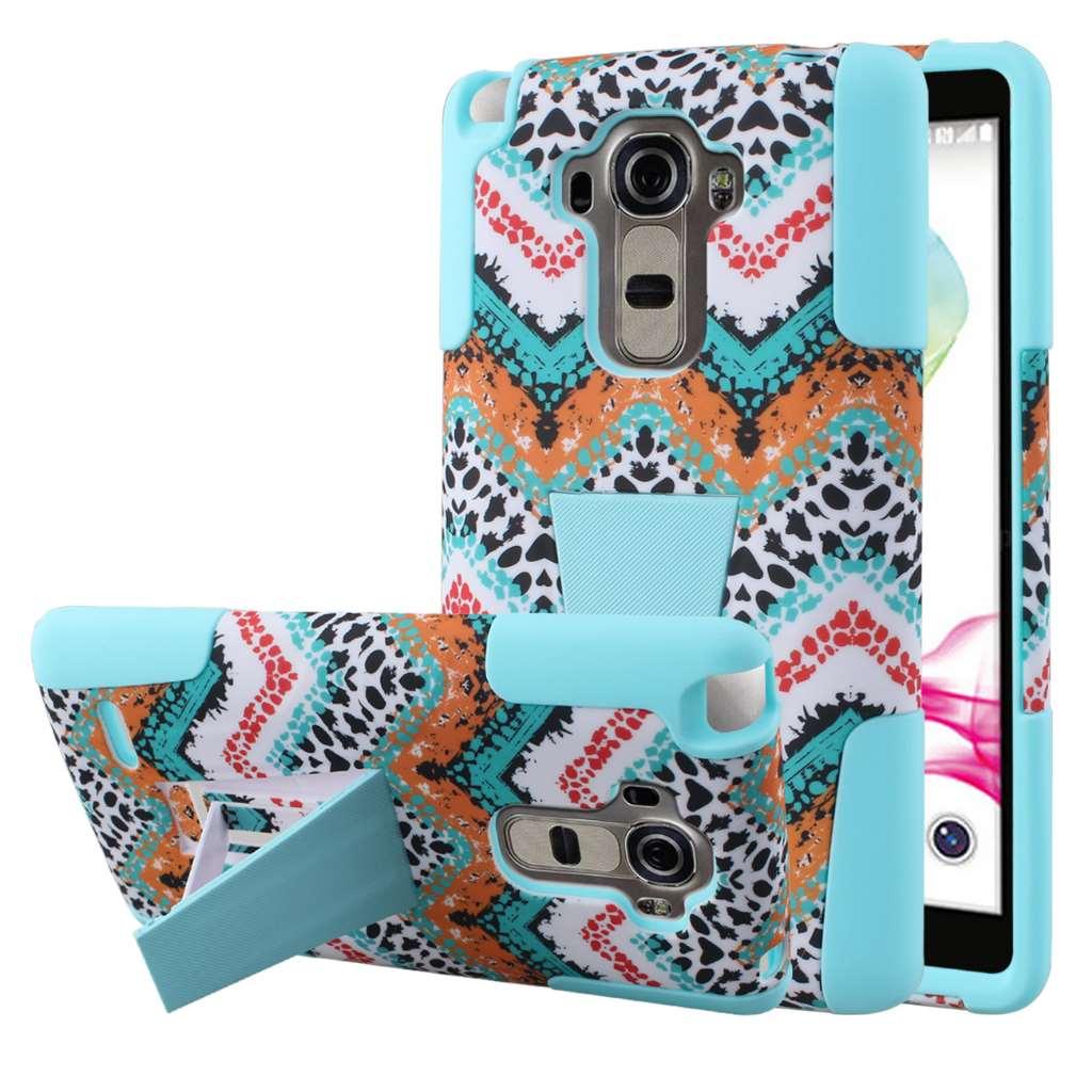 LG G Stylo - Aqua Safari MPERO IMPACT X - Kickstand Case Cover