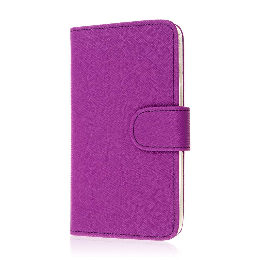 Motorola DROID TURBO - Purple MPERO FLEX FLIP Wallet Case Cover