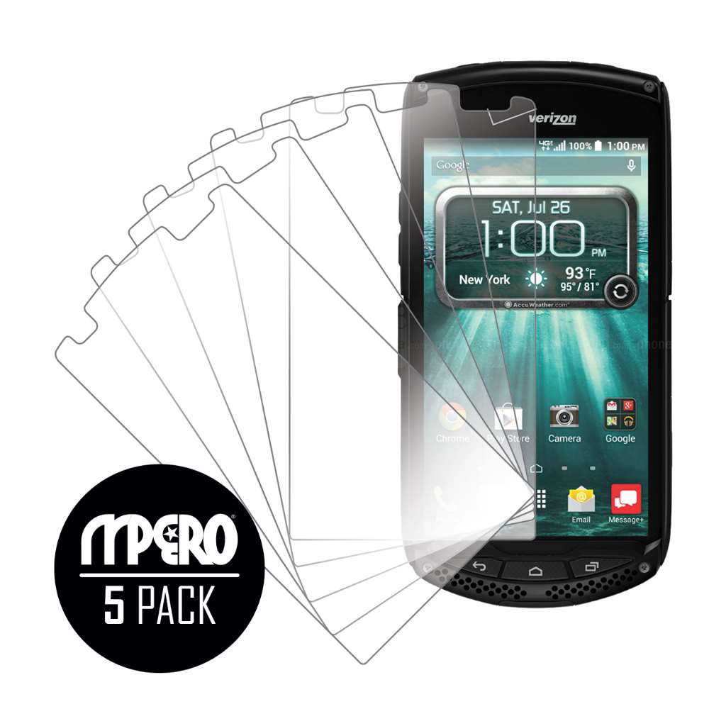 Kyocera Brigadier MPERO 5 Pack of Ultra Clear Screen Protectors