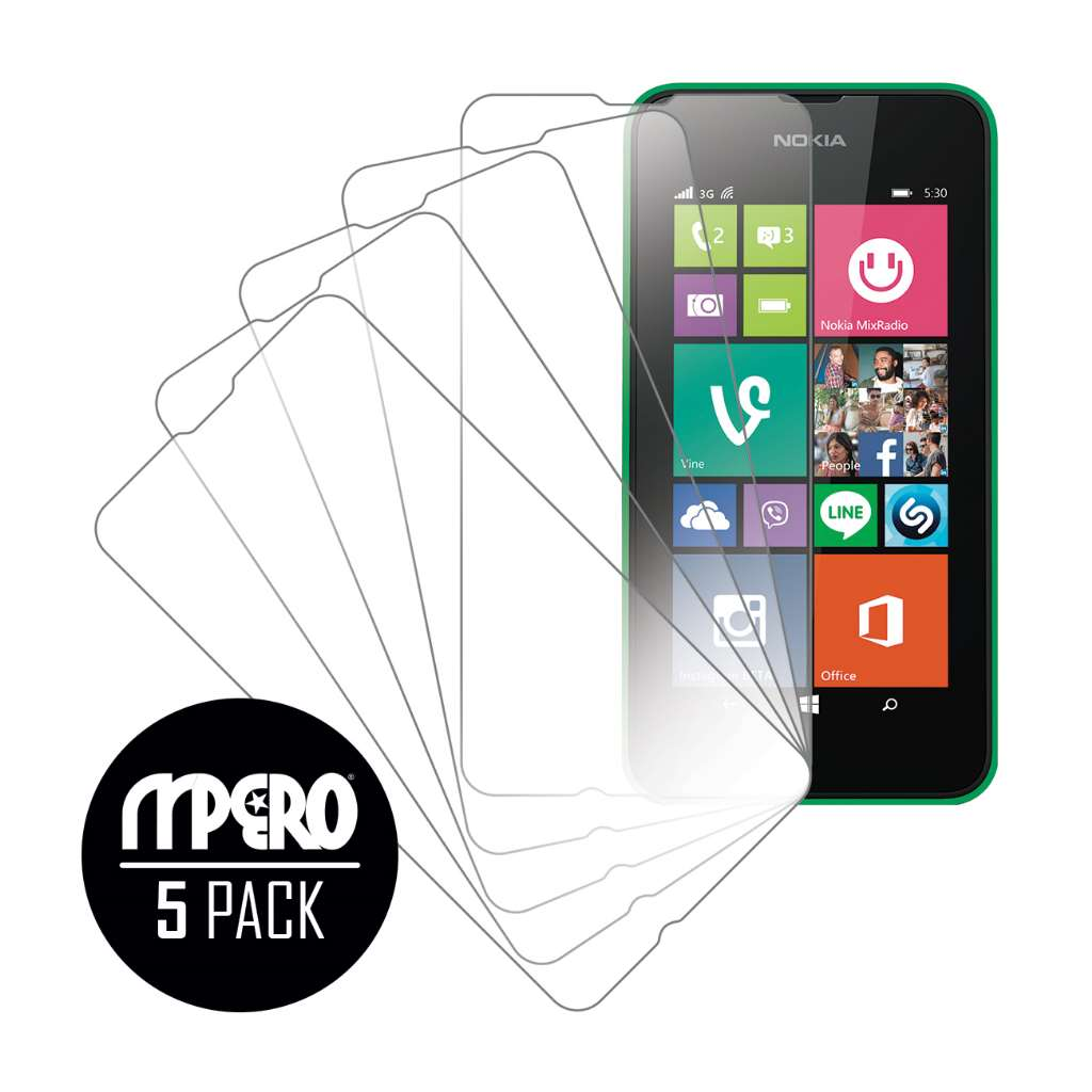 Nokia Lumia 530 MPERO 5 Pack of Ultra Clear Screen Protectors