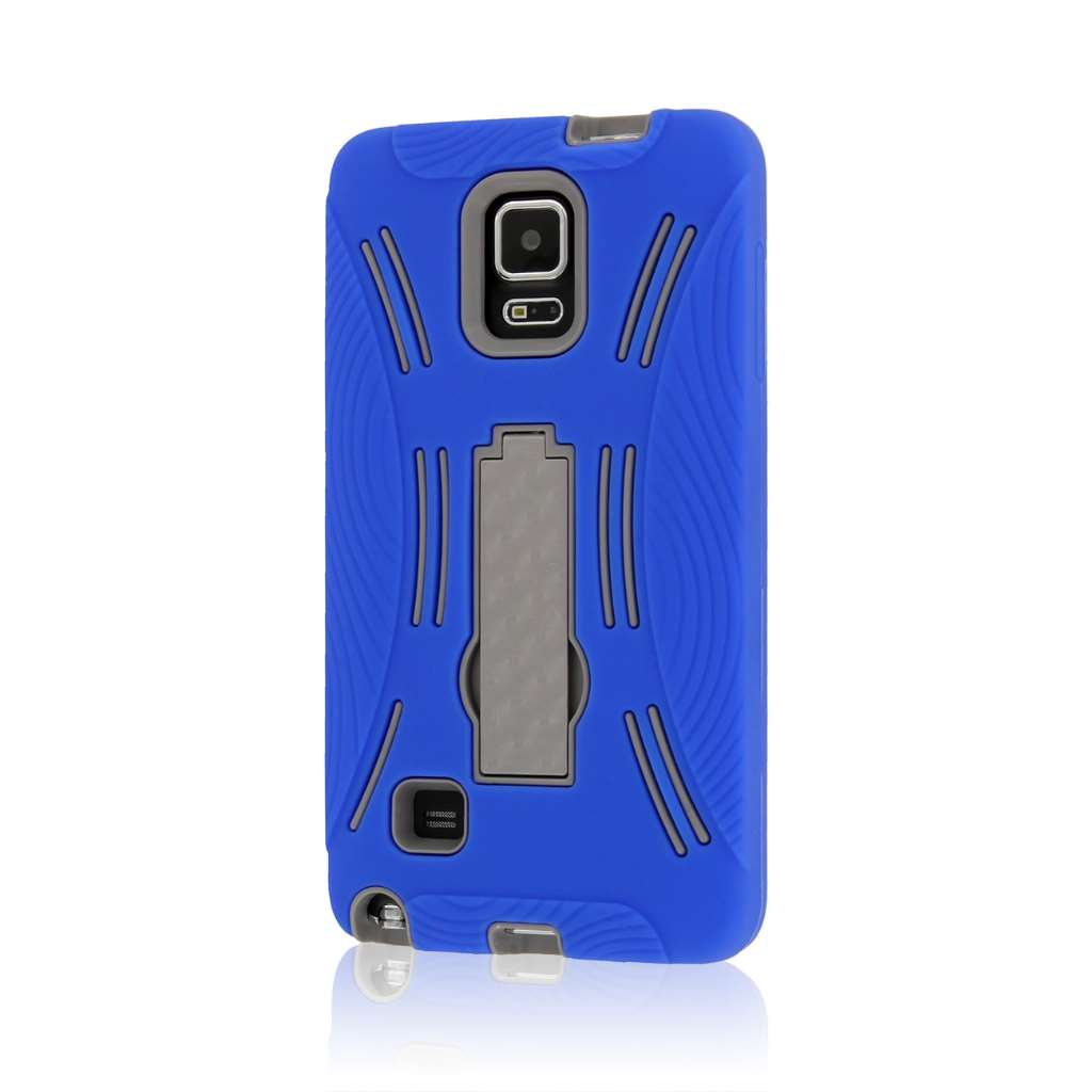 Samsung Galaxy Note 4 - Blue MPERO IMPACT XL - Kickstand Case Cover