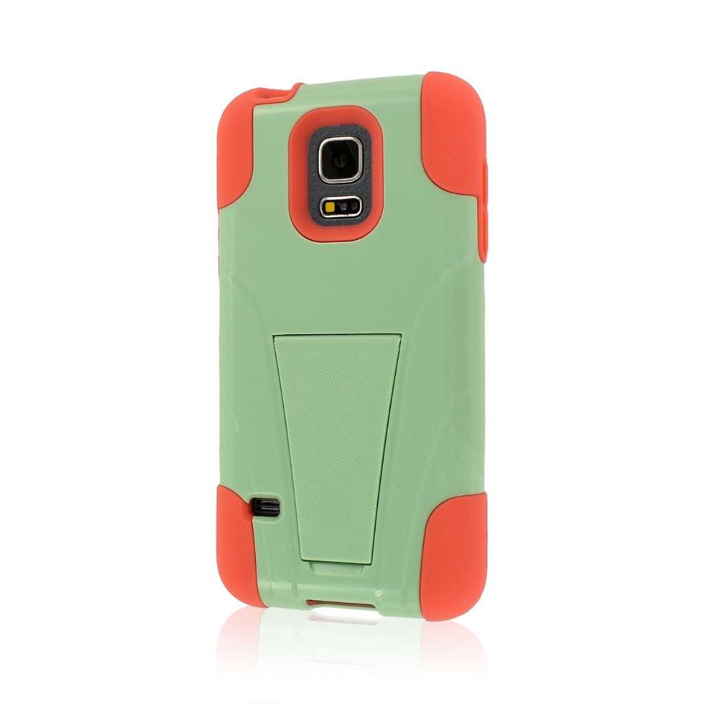 Samsung Galaxy S5 Mini - Coral / Mint MPERO IMPACT X - Kickstand Case Cover