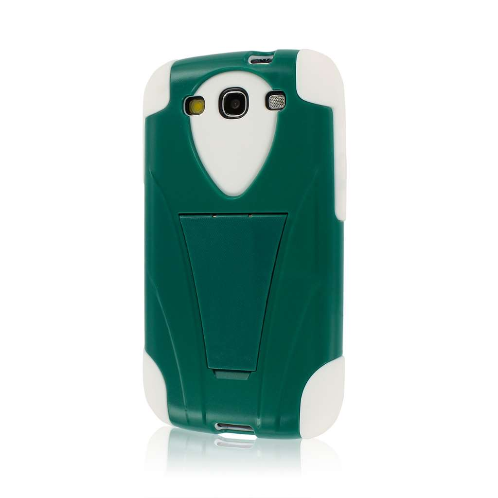 Samsung Galaxy S3 - Teal Green MPERO IMPACT X - Kickstand Case Cover