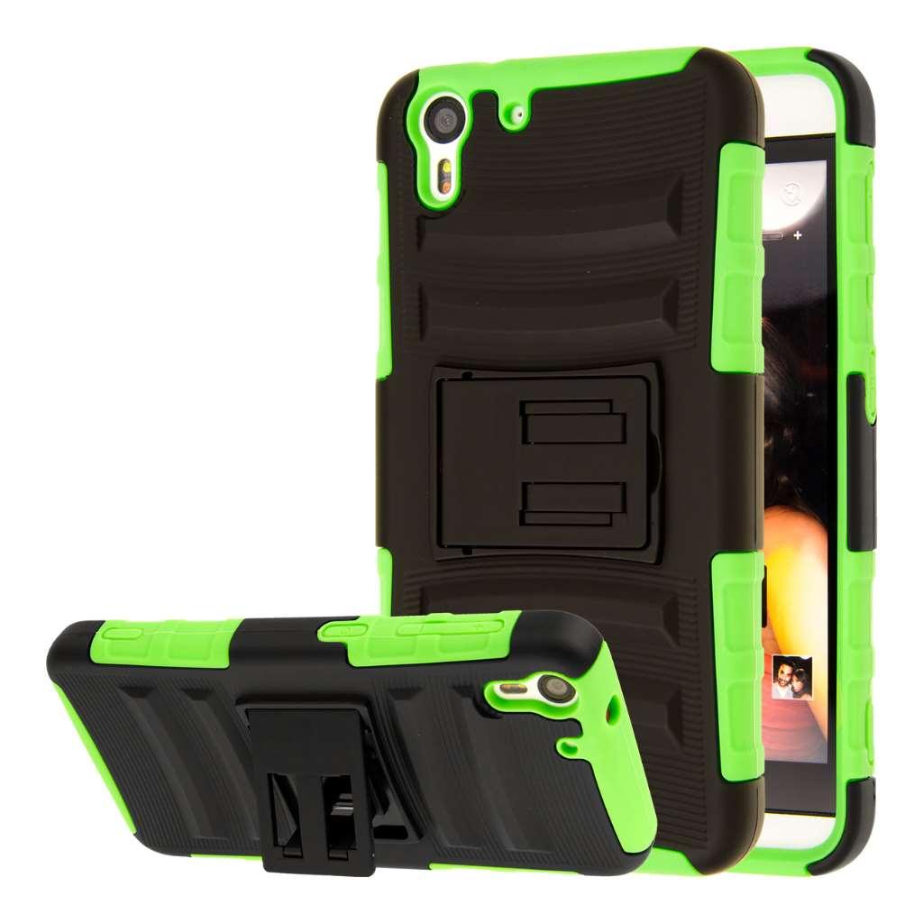 HTC Desire EYE - Neon Green MPERO IMPACT XT - Kickstand Case Cover