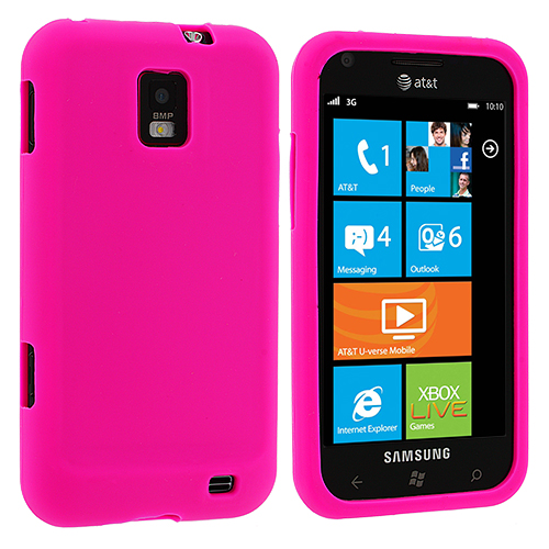 Samsung Focus S i937 Hot Pink Silicone Soft Skin Case Cover