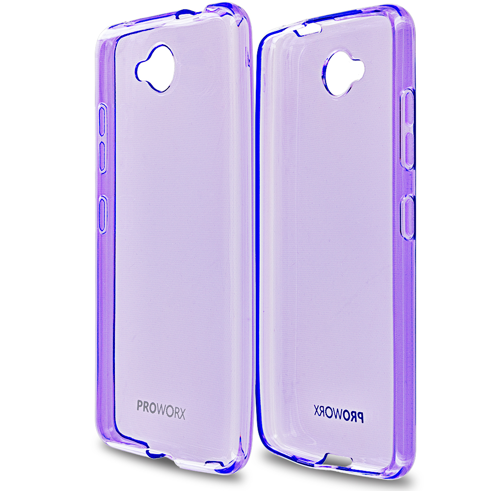 Microsoft Lumia 650 Purple ProWorx Ultra Slim Thin Scratch Resistant TPU Silicone Case Cover