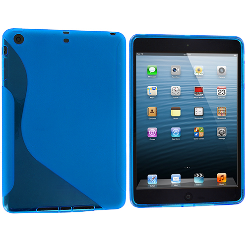Apple iPad Mini Baby Blue S-Line TPU Rubber Skin Case Cover