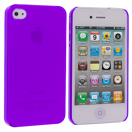 Apple iPhone 4 Purple 0.3mm Crystal Hard Back Cover Case