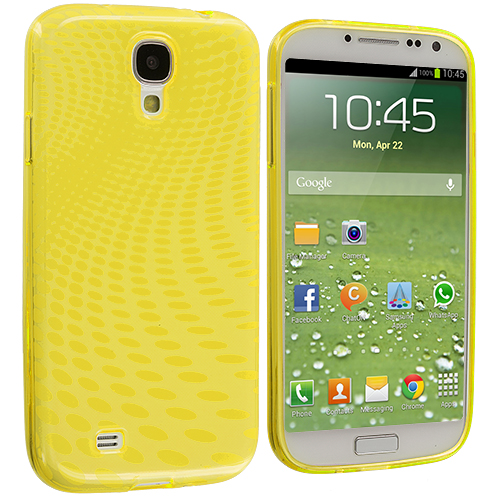 Samsung Galaxy S4 Yellow Peacock TPU Rubber Skin Case Cover
