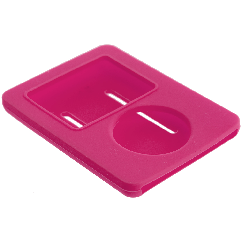 Apple iPod Nano 3rd Generation Hot Pink Silicone Soft Skin Case Cover