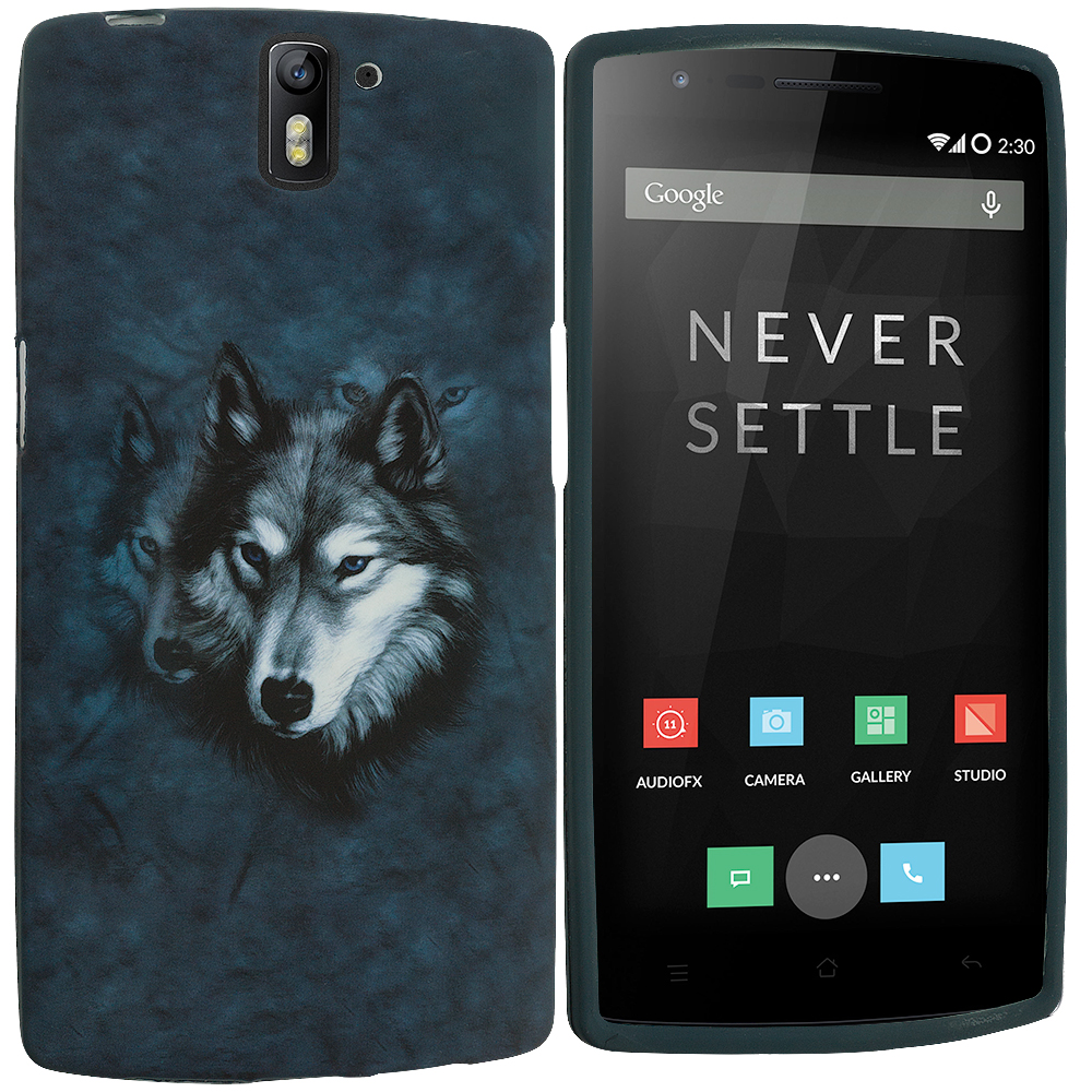 OnePlus One Wolf TPU Design Soft Rubber Case Cover