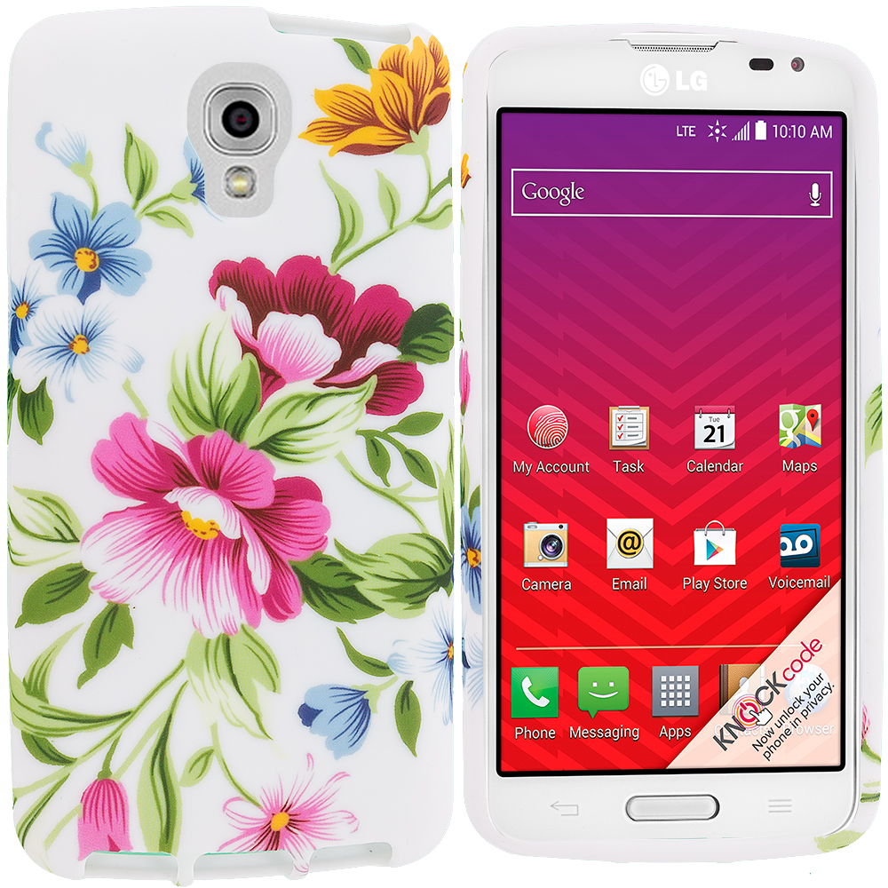 LG Volt LS740 Flower Painting TPU Design Soft Rubber Case Cover