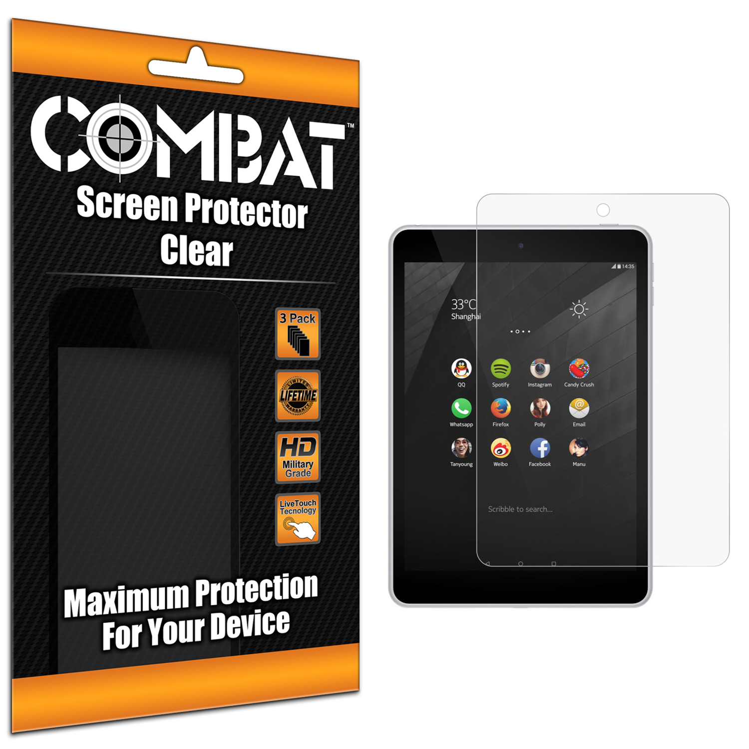 Nokia N1 Clear Combat 6 Pack HD Clear Screen Protector