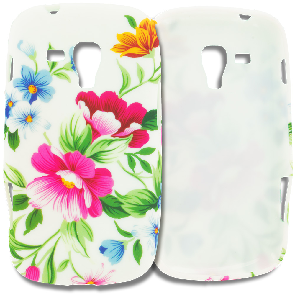 Samsung Galaxy S Duos Flower Painting TPU Design Soft Rubber Case Cover