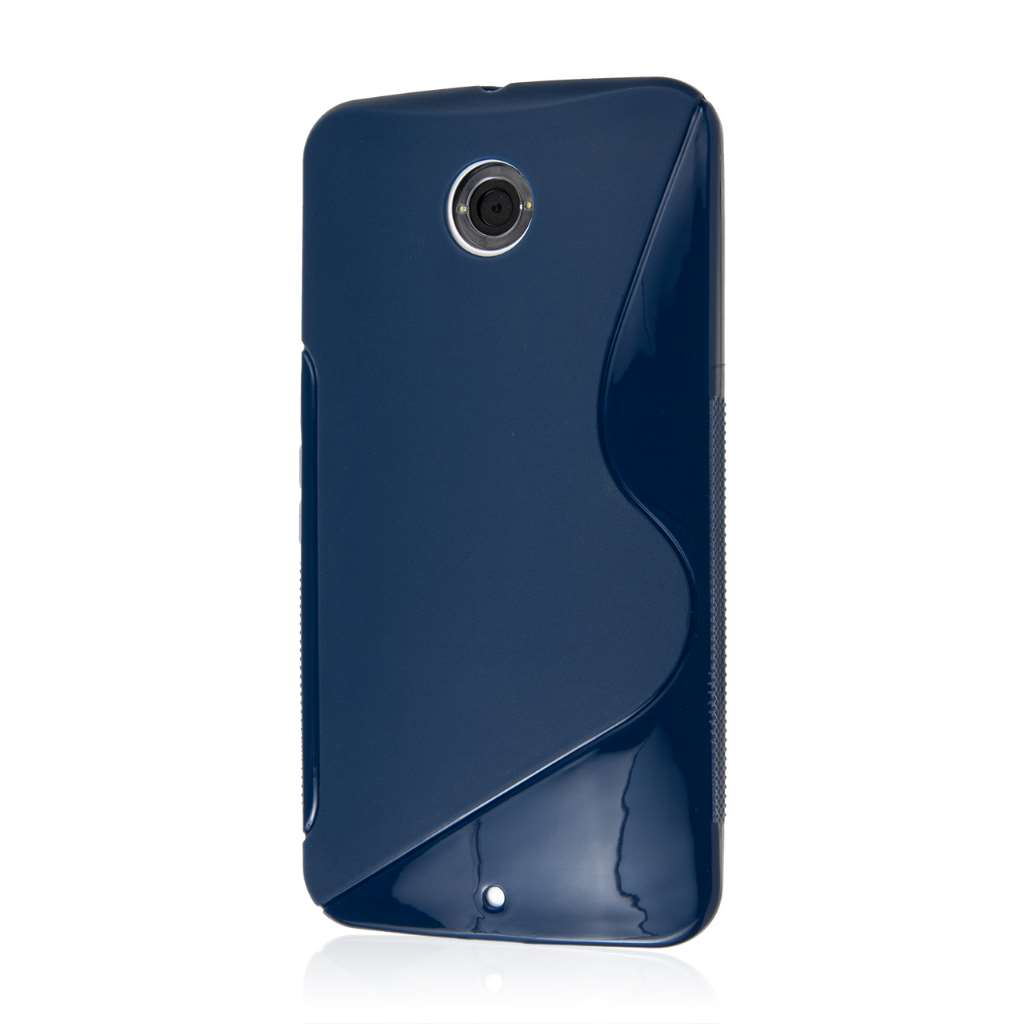 Google Nexus 6 - Navy Blue MPERO FLEX S - Protective Case Cover