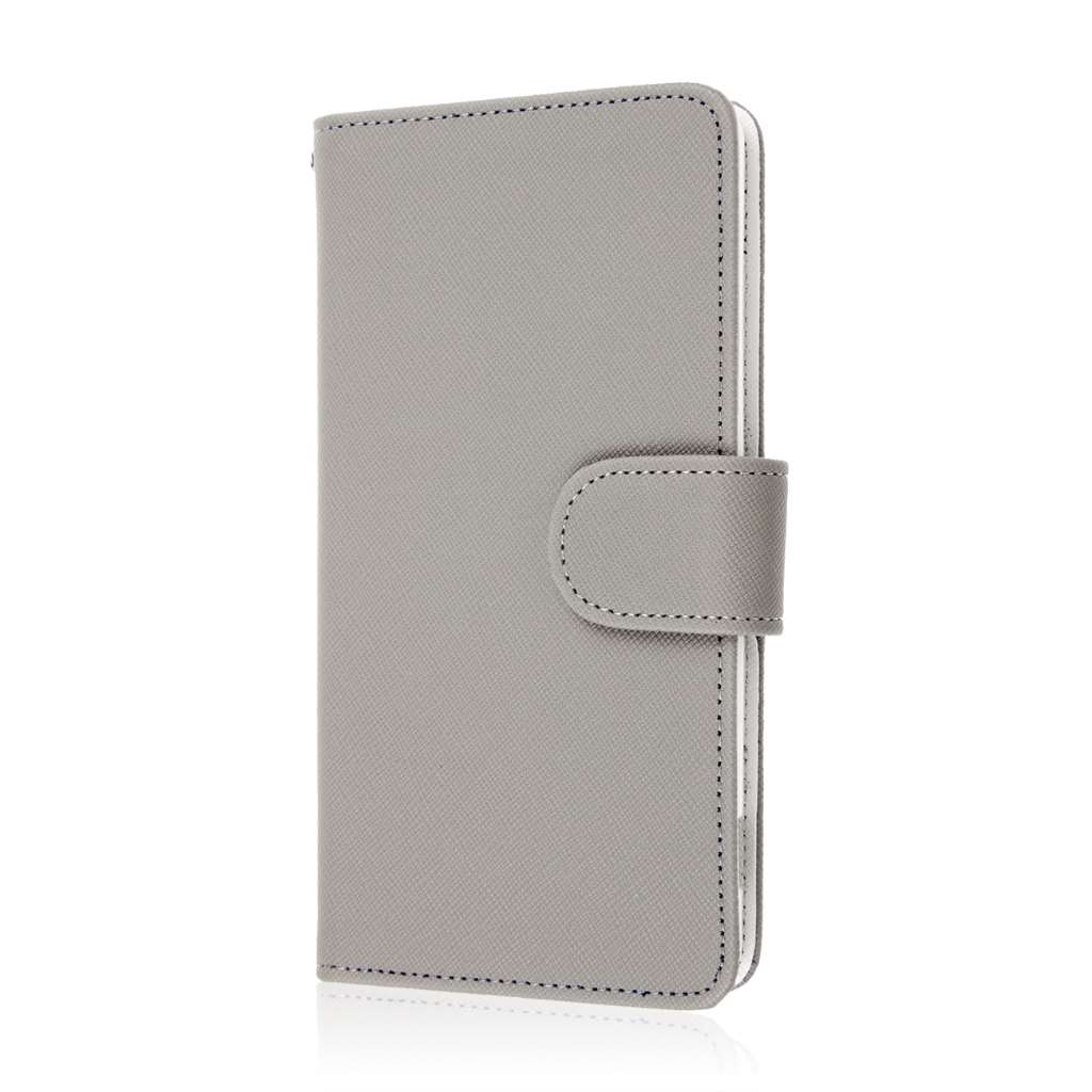 Sony Xperia Z3v - Gray MPERO FLEX FLIP Wallet Case Cover