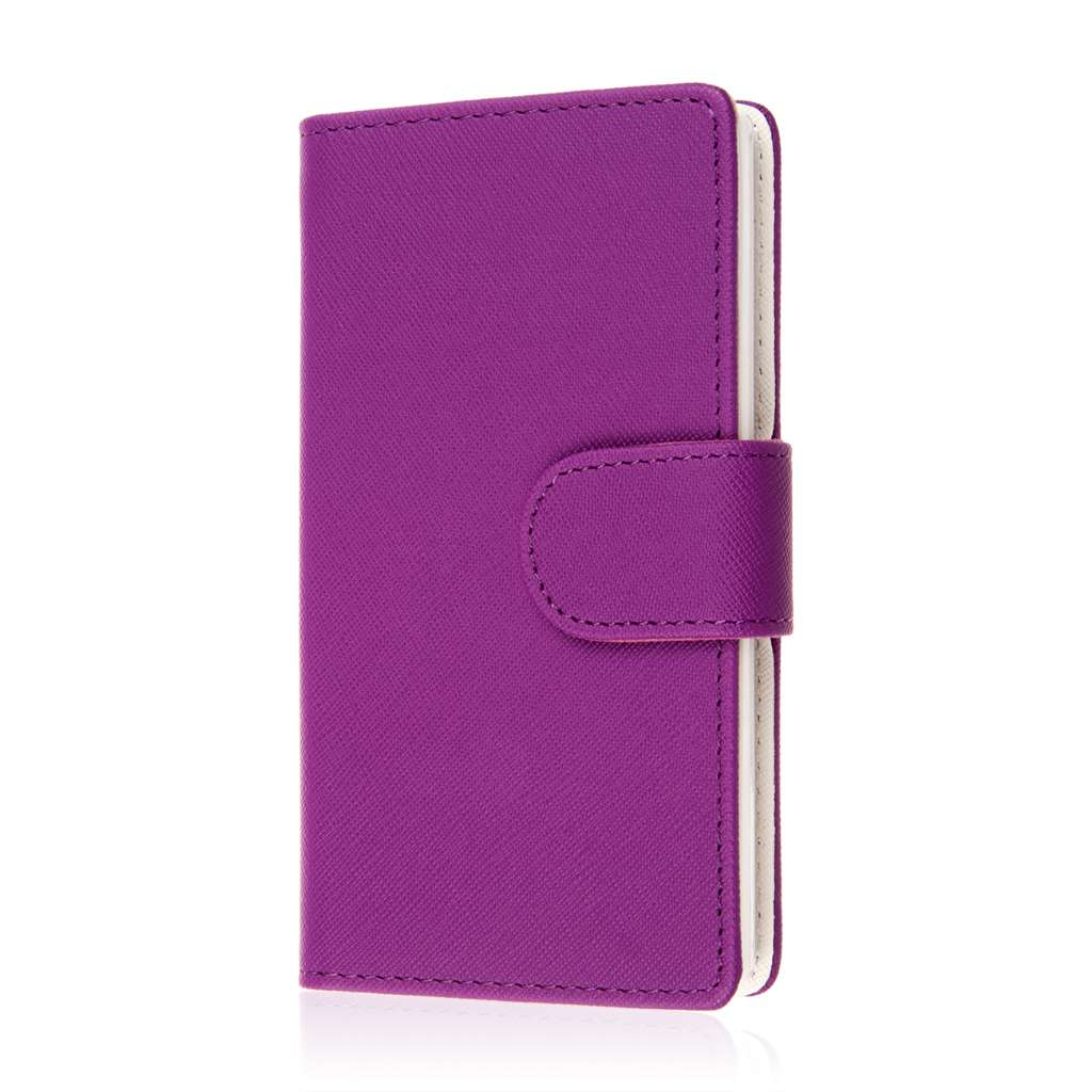 Sharp AQUOS Crystal - Purple MPERO FLEX FLIP Wallet Case Cover