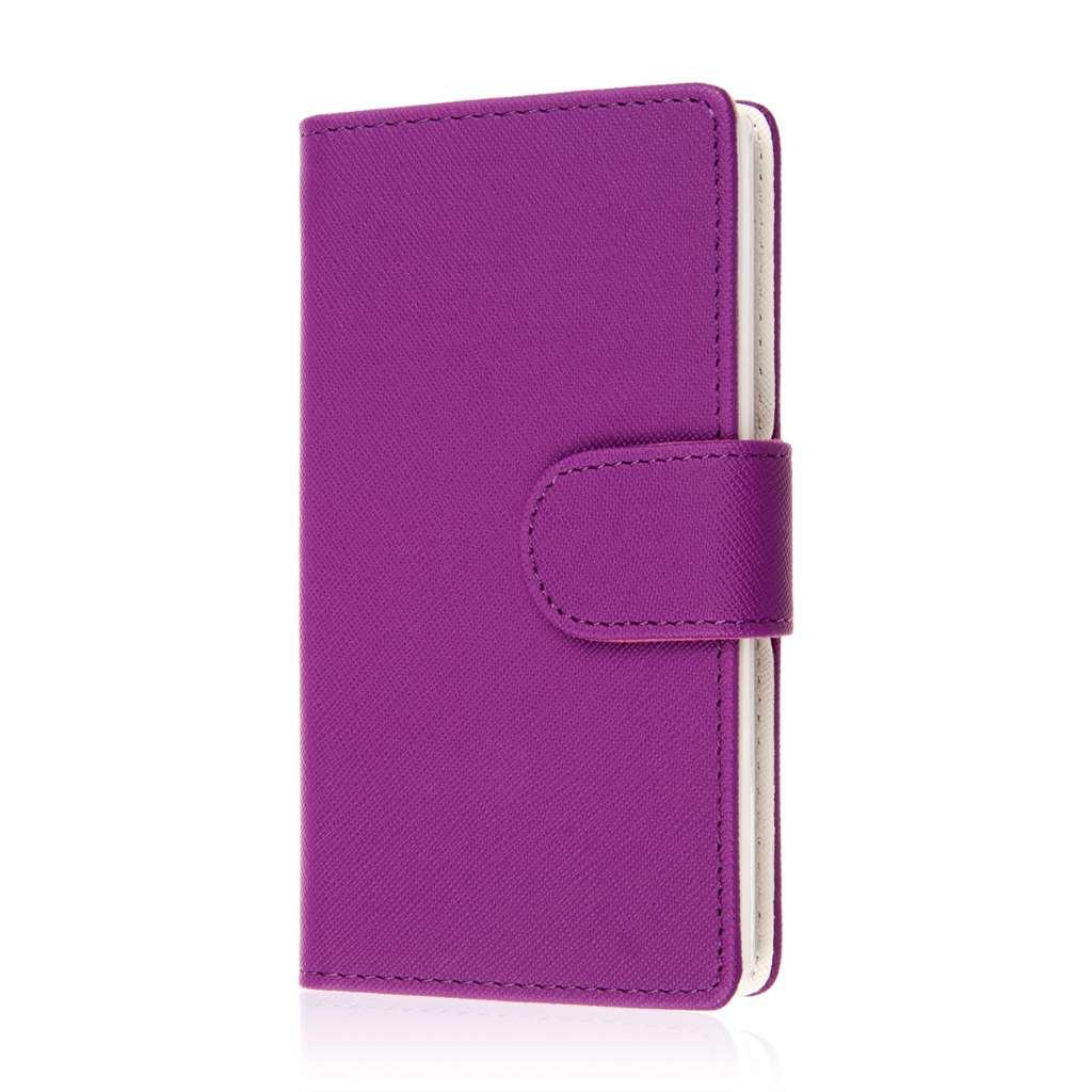 Sharp AQUOS Crystal - Purple MPERO FLEX FLIP Wallet Case Cover