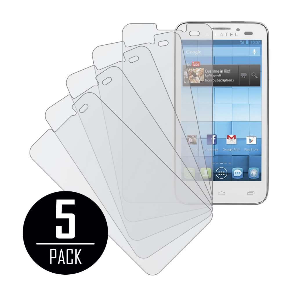 Alcatel OneTouch Snap MPERO 5 Pack of Matte Screen Protectors