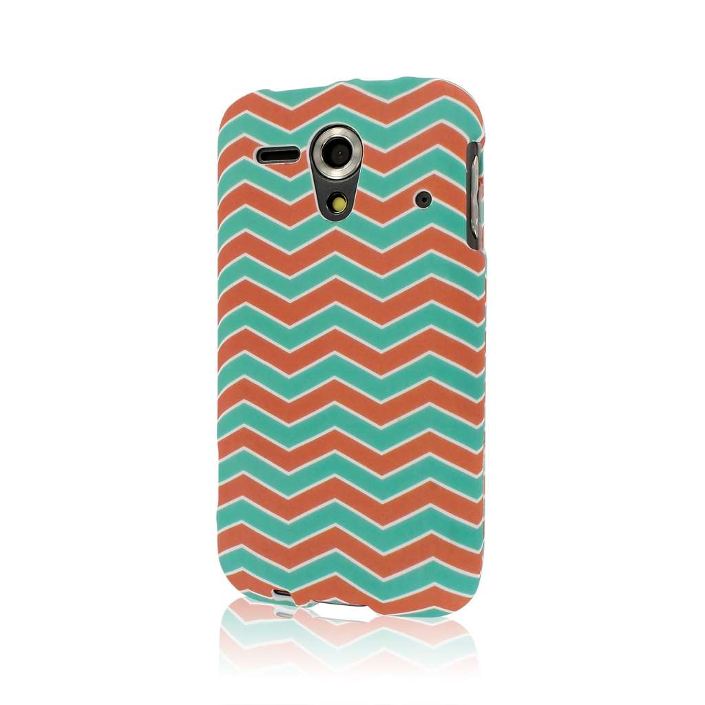 Kyocear Hydro Edge - Mint Chevron MPERO SNAPZ - Rubberized Case Cover