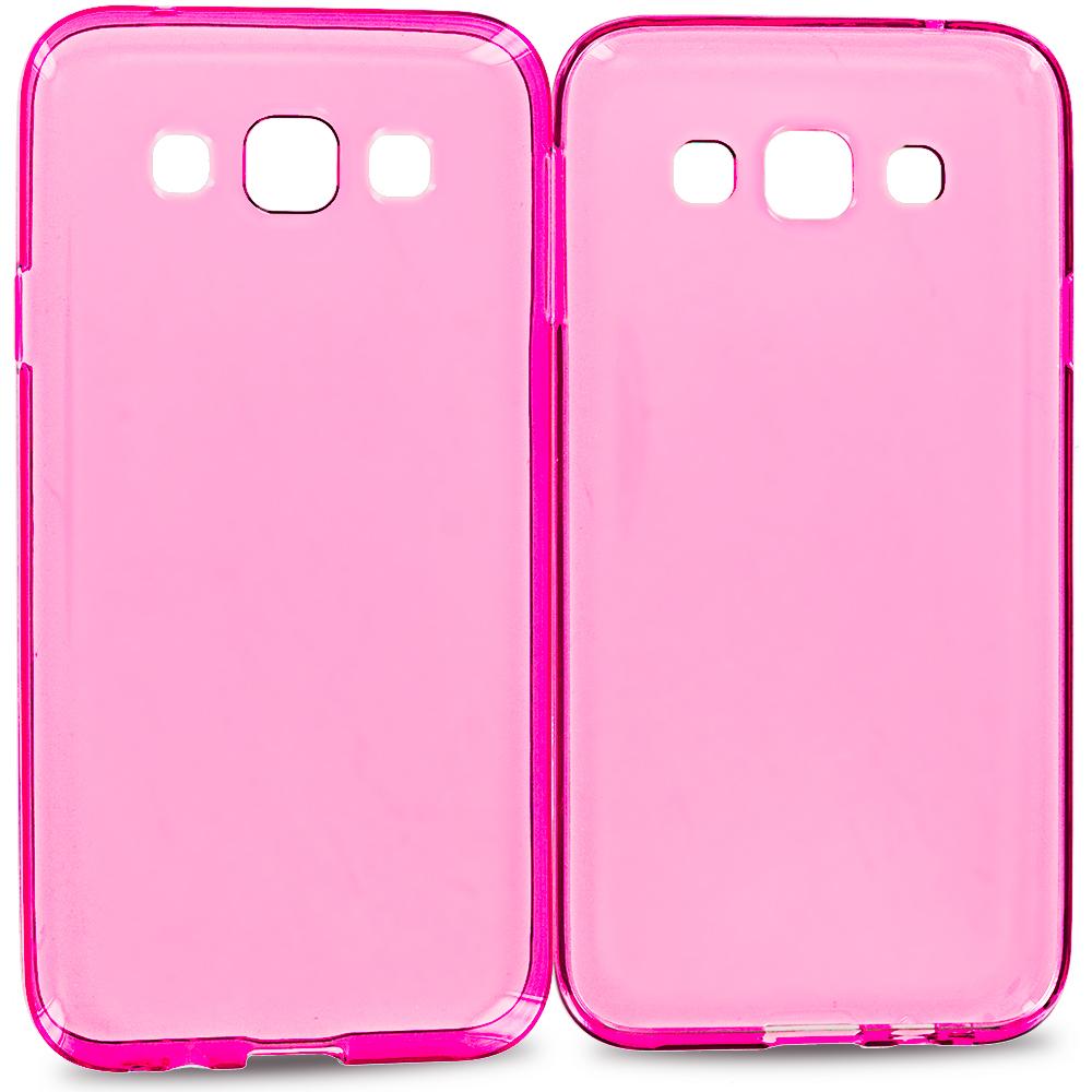 Samsung Galaxy E5 S978L Hot Pink TPU Rubber Skin Case Cover