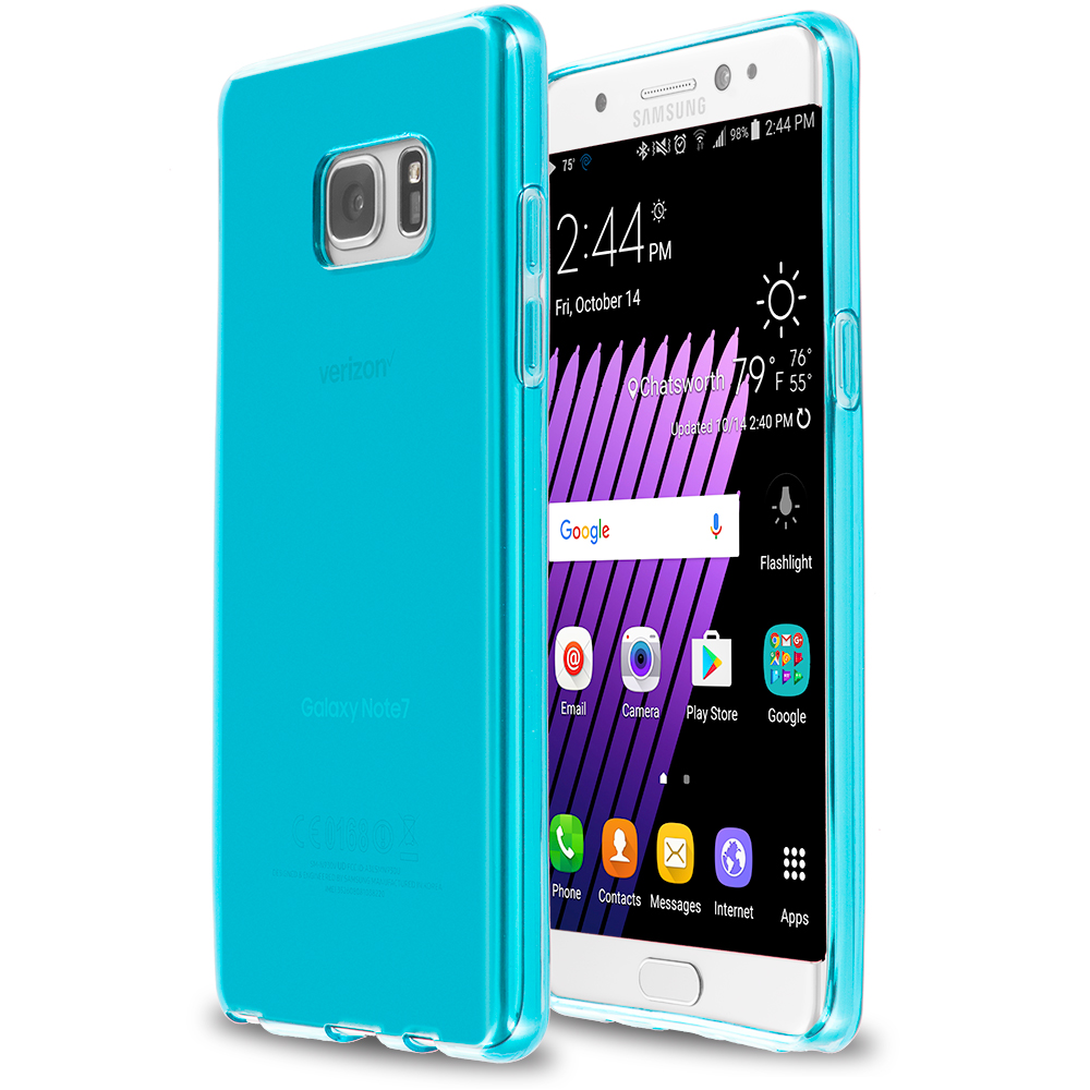 Samsung Galaxy Note 7 Baby Blue TPU Rubber Skin Case Cover
