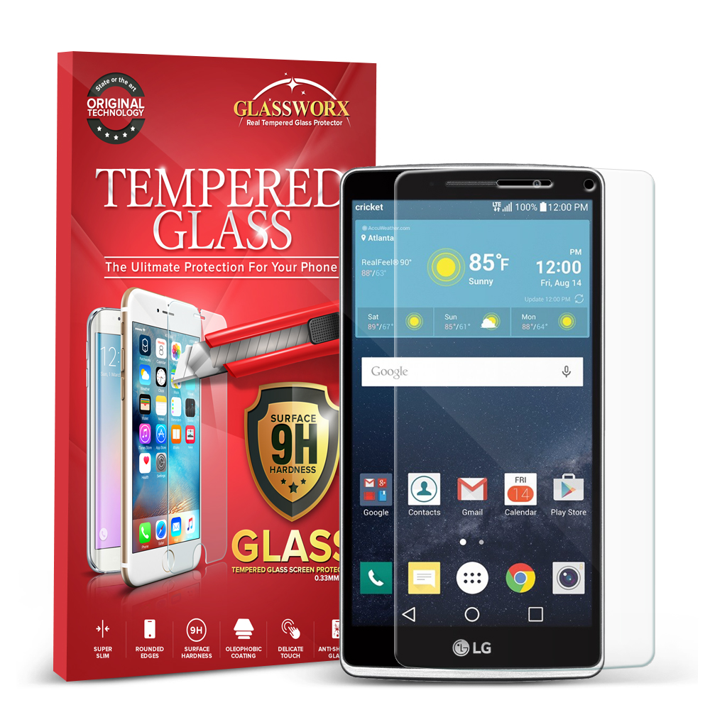 LG G Stylo LS770 / G4 Stylus GlassWorX HD Clear Tempered Glass Screen Protector