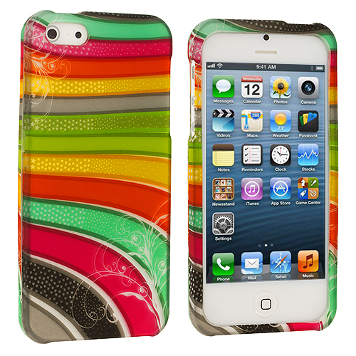 Apple iPhone 5/5S/SE Candy Bar Hard Rubberized Design Case Cover