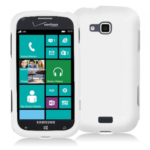 Samsung ATIV Odyssey White Hard Rubberized Case Cover