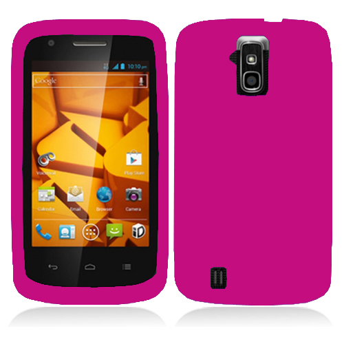ZTE Force N9100 Hot Pink Hard Rubberized Case Cover