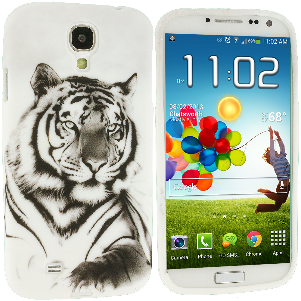 Samsung Galaxy S4 Tiger TPU Design Soft Case Cover
