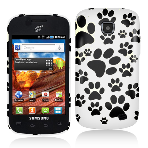 Samsung Proclaim S720C Dog Paw Hard Rubberized Design Case Cover