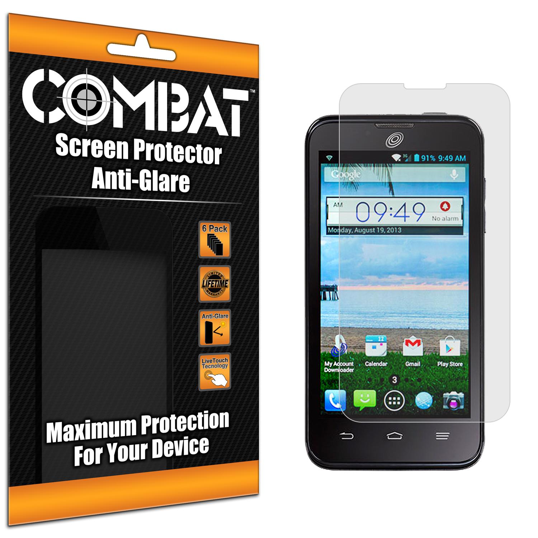 ZTE Solar Z795G Combat 6 Pack Anti-Glare Matte Screen Protector