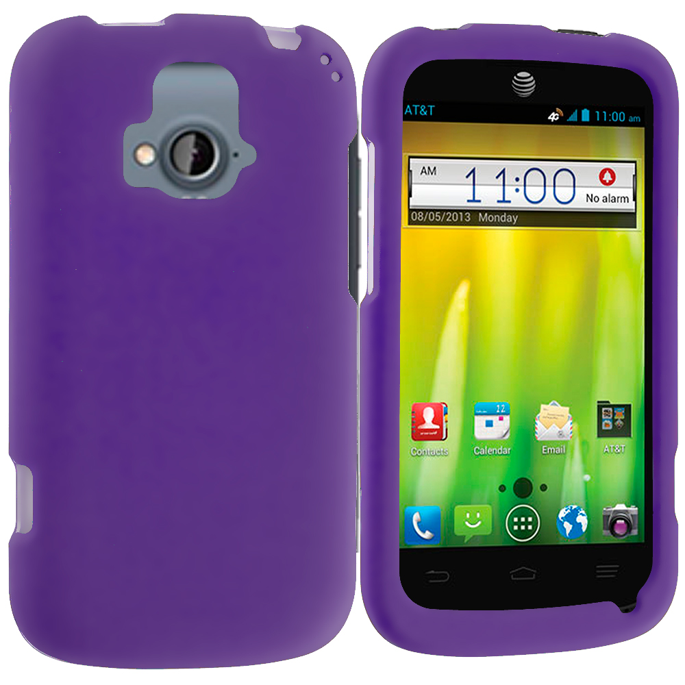 ZTE Radiant Purple Hard Rubberized Case Cover