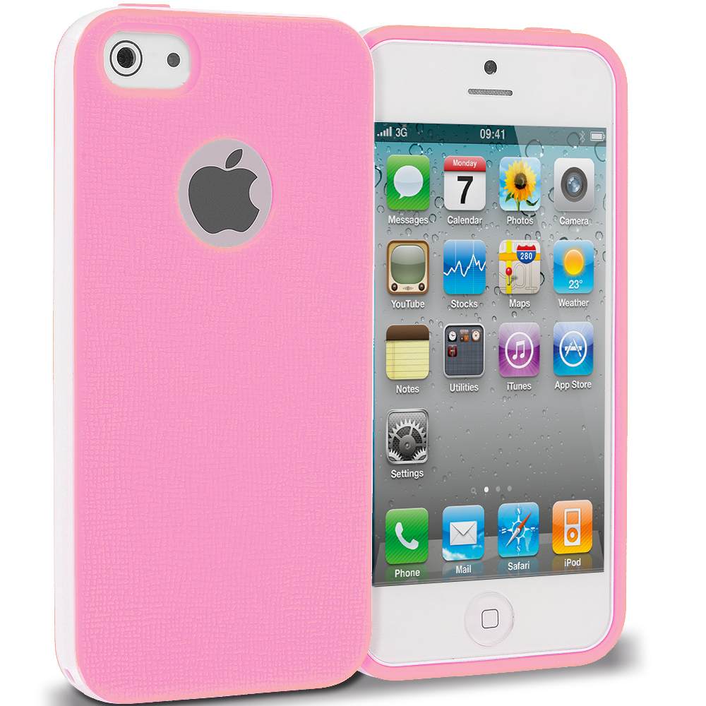 Apple iPhone 4 / 4S Pink Hybrid TPU Bumper Case Cover