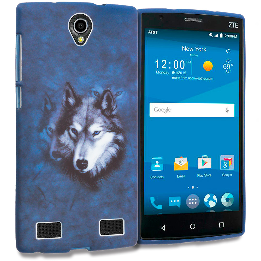 ZTE Zmax 2 Wolf TPU Design Soft Rubber Case Cover