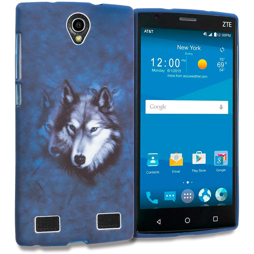 ZTE Zmax 2 Wolf TPU Design Soft Rubber Case Cover