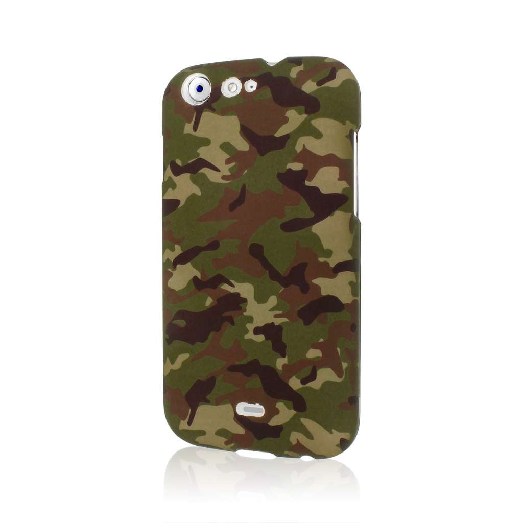 BLU Life One - Green Camo MPERO SNAPZ - Rubberized Case Cover