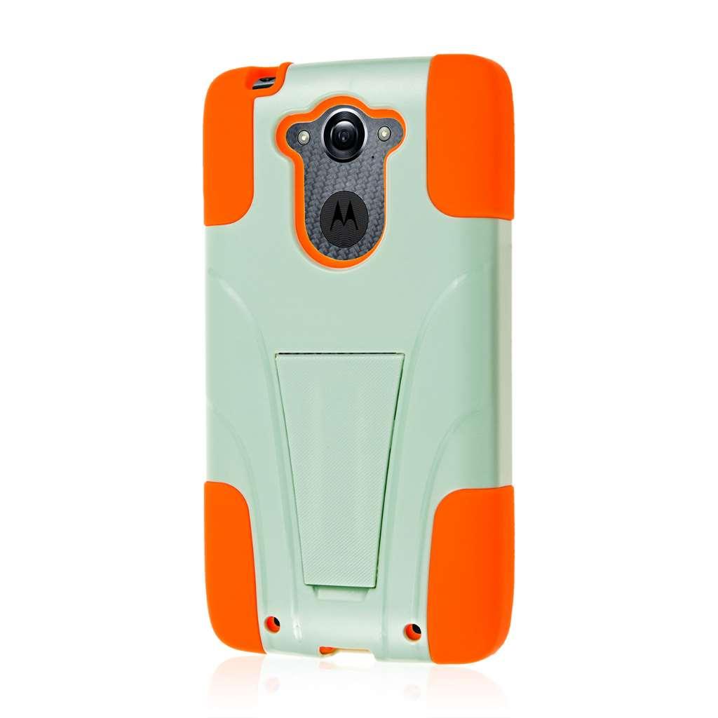 Motorola DROID TURBO - Coral / Mint MPERO IMPACT X - Kickstand Case Cover
