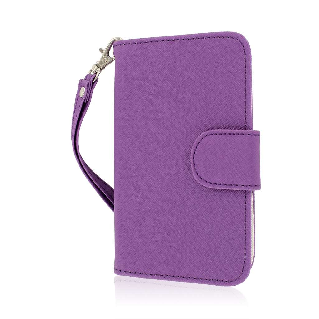 BlackBerry Q5 - Purple MPERO FLEX FLIP Wallet Case Cover