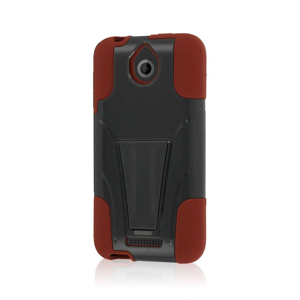 HTC Desire 510 512 - Sandstone / Gray MPERO IMPACT X - Kickstand Case Cover