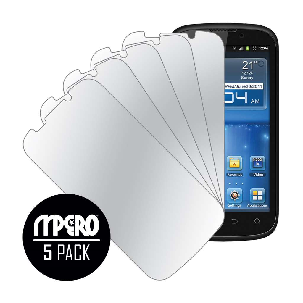 ZTE Grand X V970 MPERO 5 Pack of Mirror Screen Protectors