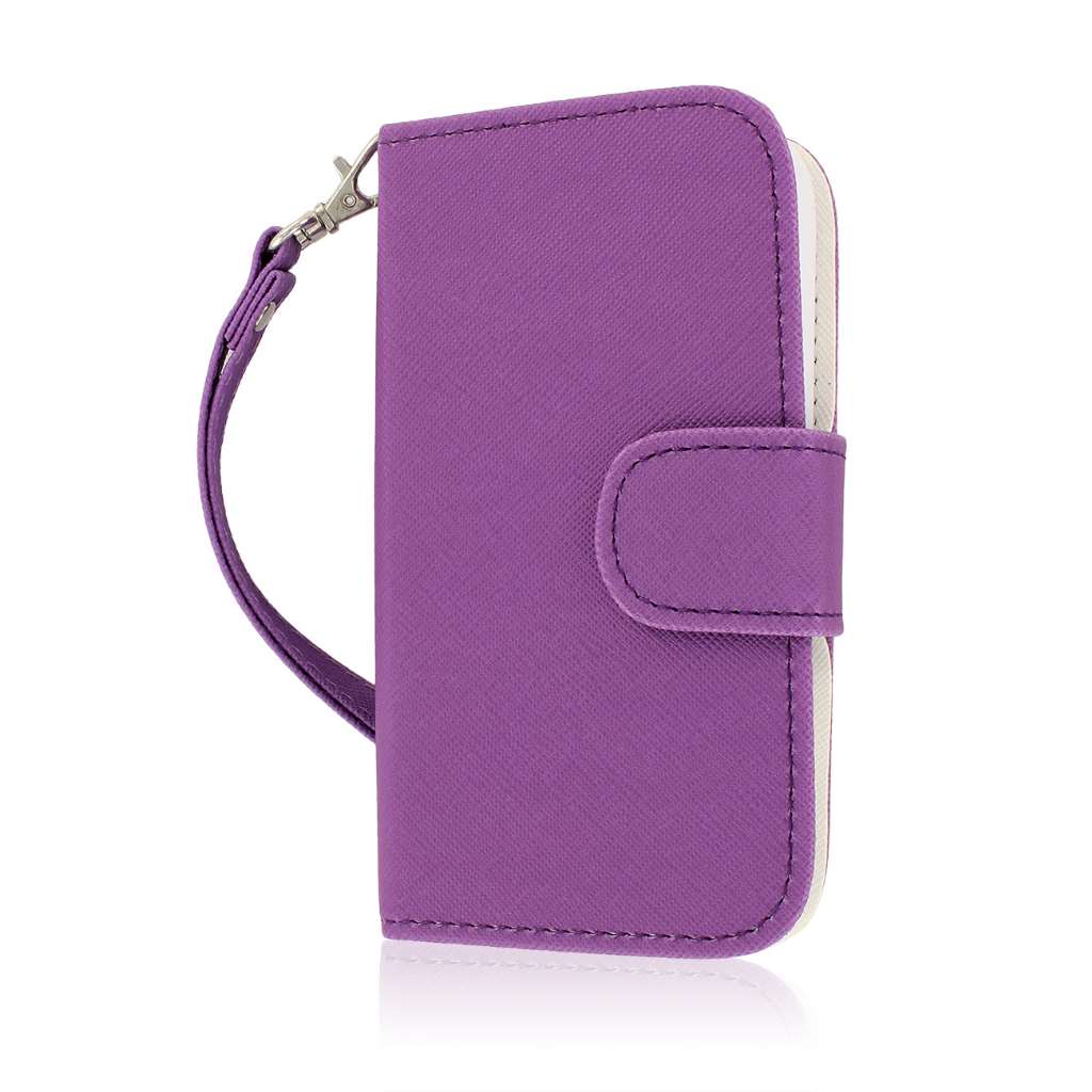 ZTE Concord 2 - Purple MPERO FLEX FLIP Wallet Case Cover