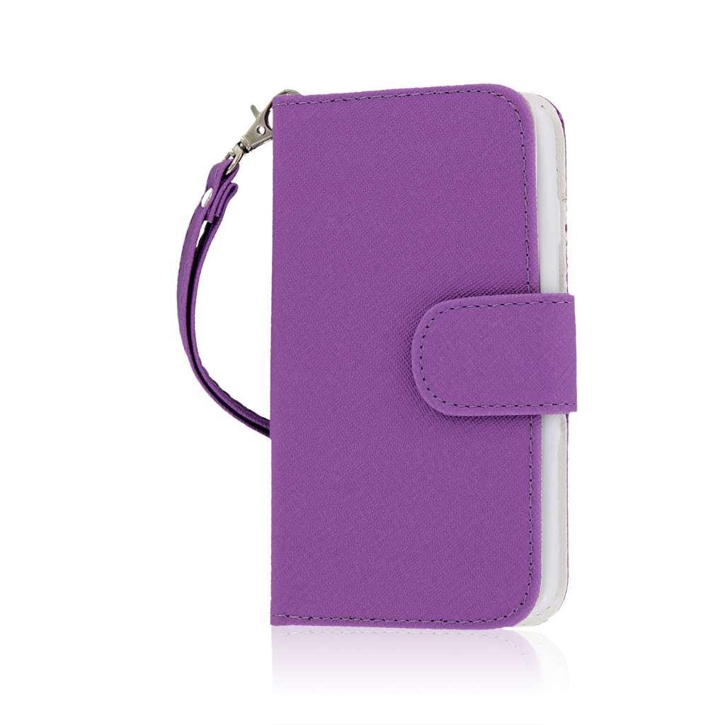 LG Lucid 3 - Purple MPERO FLEX FLIP Wallet Case Cover