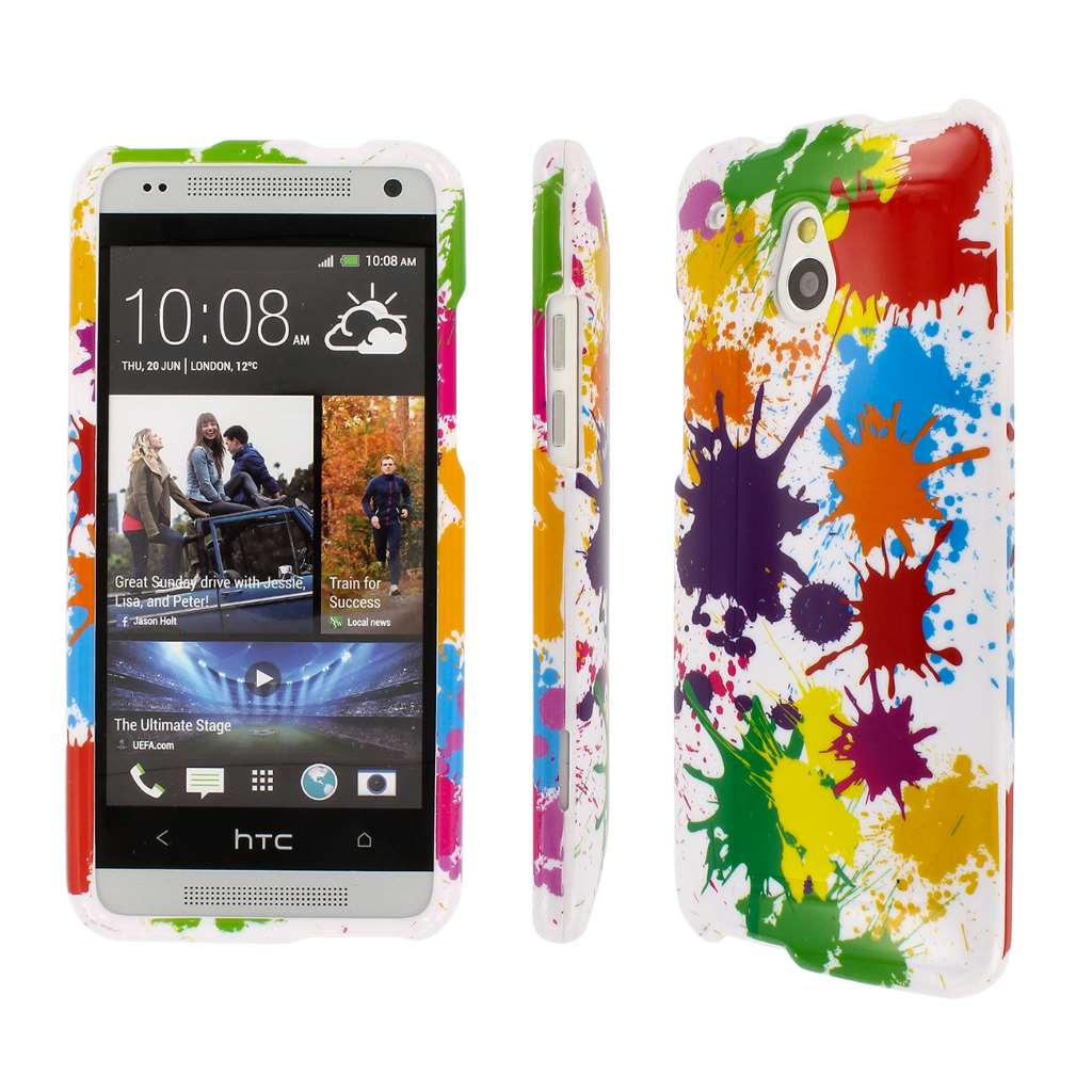 HTC One Mini - White Paint Splatter MPERO SNAPZ - Glossy Case Cover