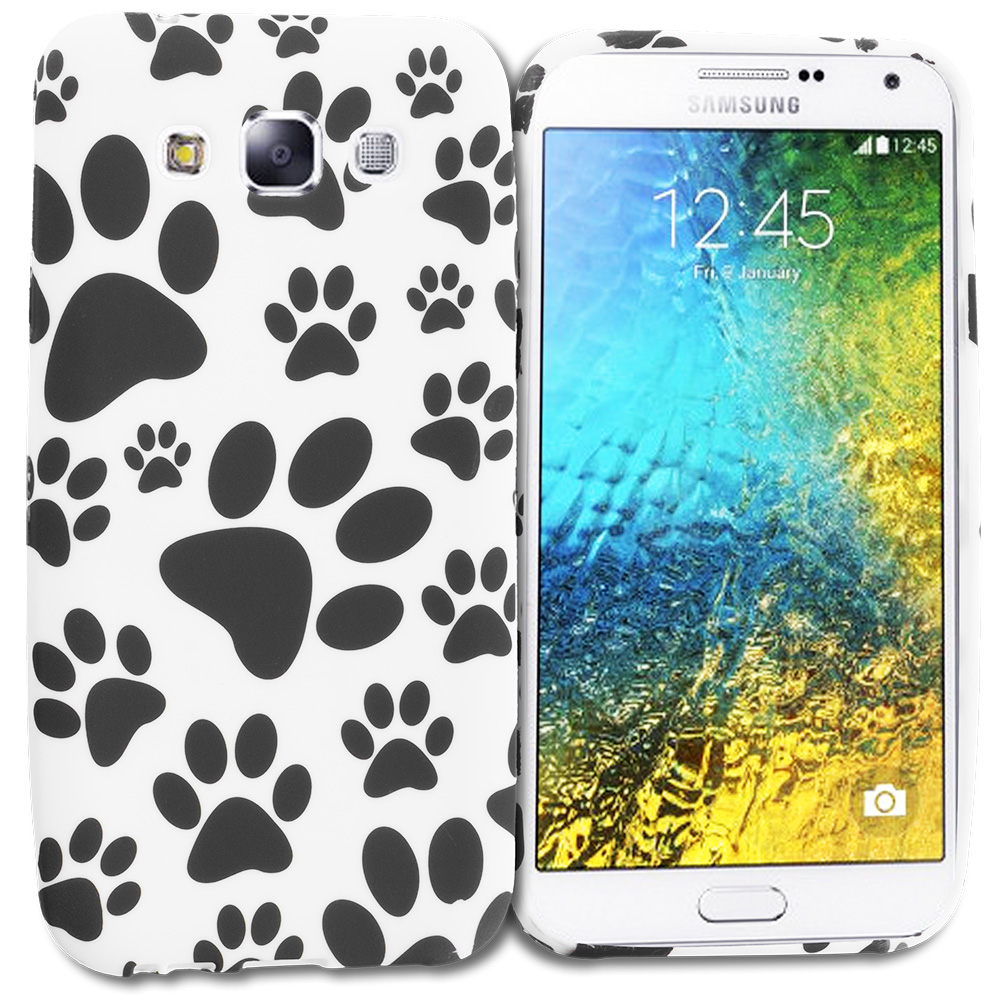 Samsung Galaxy E5 S978L Dog Paw TPU Design Soft Rubber Case Cover