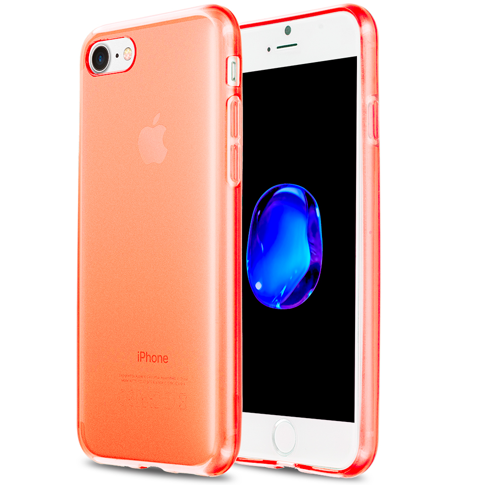 Apple iPhone 7 Orange TPU Rubber Skin Case Cover