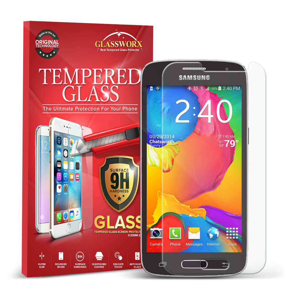 Samsung Galaxy Avant G386 GlassWorX HD Clear Tempered Glass Screen Protector