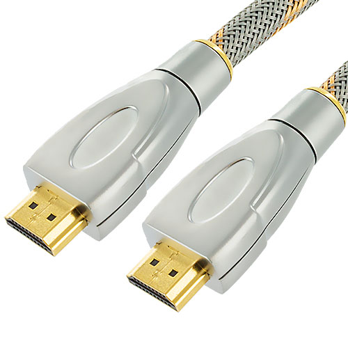 HDTV PS3 PS4 Xbox 360 Xbox One DVD 10ft Silver Mesh HDMI Cable 1.4 High Speed